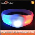 Colorful Flashing Bracelets Sound Activated Blinking Party Silicone Light Up LED Bracelet