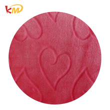 High quality double cut polyester coral fleece / velvet fabric supplier