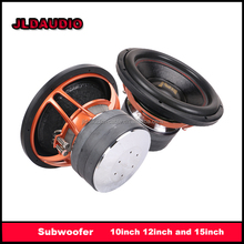 JLDAUDIO 15 car subwoofer with aluminum basket frame Dual-2ohms 3000w RMS car subwoofer audio