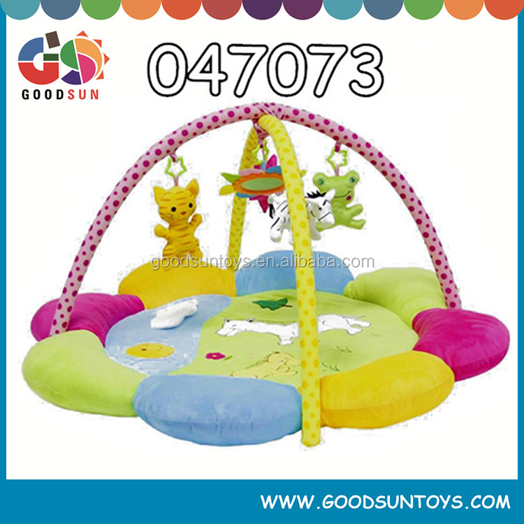 top selling fashion cheap children baby play mat custom cute soft plush baby play with sides