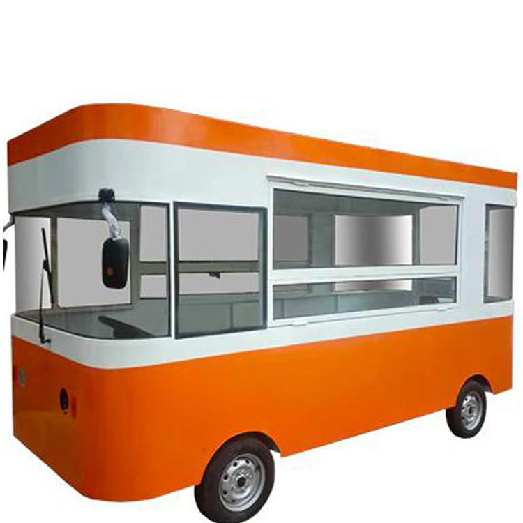 Cheapest mobile food truck for crepefast food van cart trailer for sale