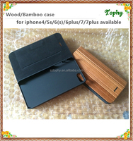 For iphone6 6S wood flip case/wallet wood case cover for iphone 5/book style wooden phone case for iphone 6 6plus 7
