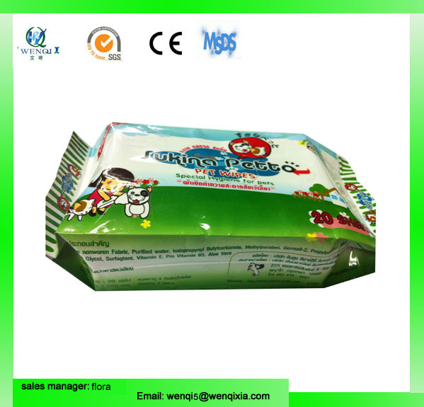 China OEM manufacture factory dog cleaning wet wipes with pet toy pet toy wipes