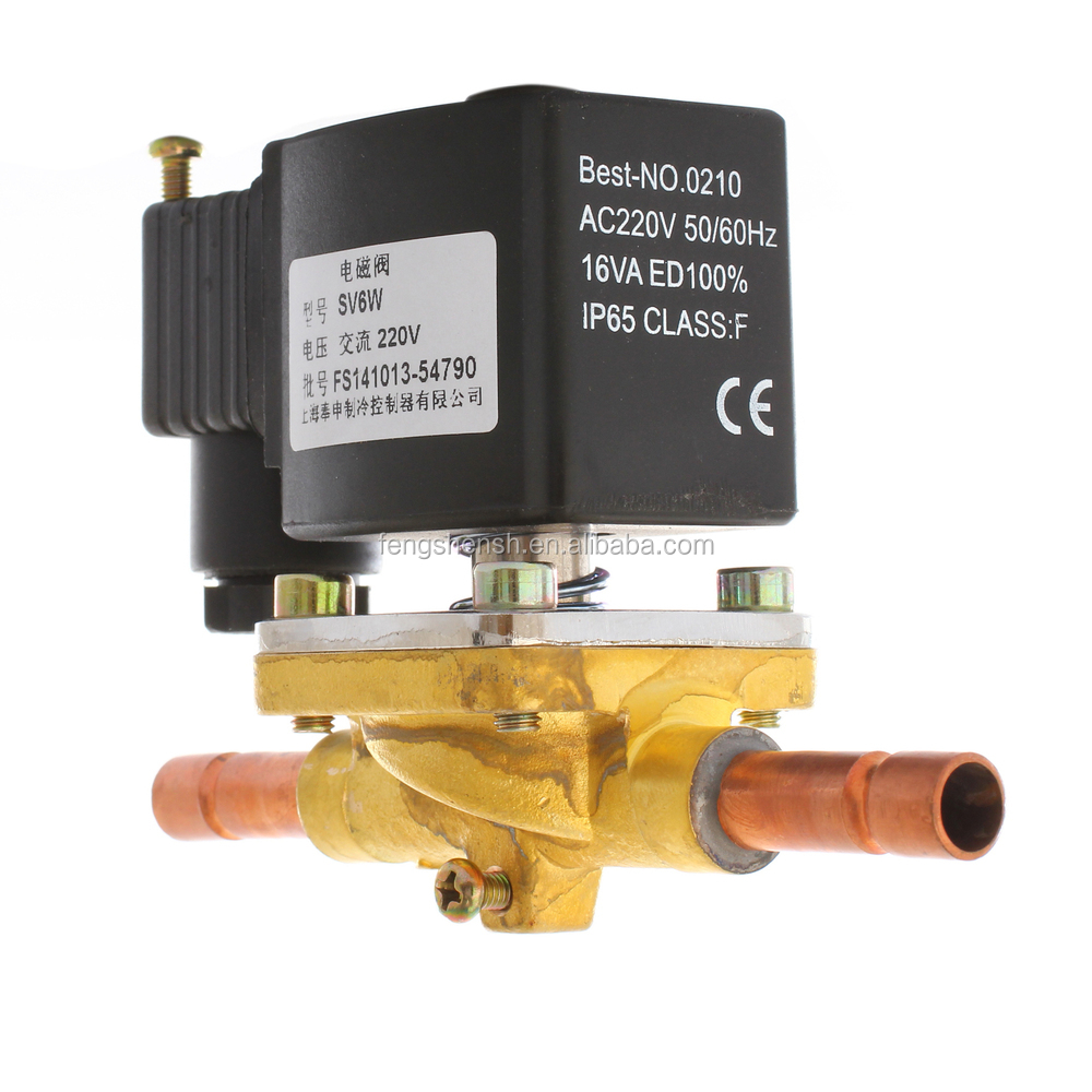 brass electric solenoid water valve with CE CQC DNV UL Certificate