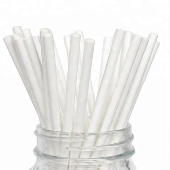 2018 Hot sales 197*6mm paper drinking straw white paper straw