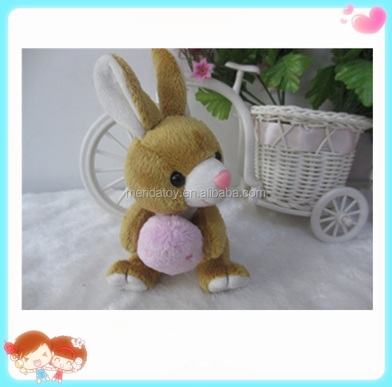 wholesale custom Easter gift cute plush animal toy Bunny rabbit with eggs