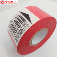 30mm * 100m Selling Red Hot Stamp Printing Foil for Expiry Date Stamping Machine
