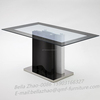 Mdf Support Stainelss Steel Base Glass