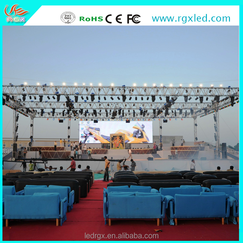 RGX latest inventions products P10 outdoor rental led display sports/shopping mall advertising