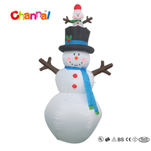 8ft Inflatable Western Christmas Decorations Snowman for Party Show
