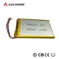 UL approval Rechargeable 6060115 lithium ploymer battery 3.7v 5000mah for tablet pc