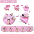 Removeable pink lotus EVA display false nail tip practice tool stand holder