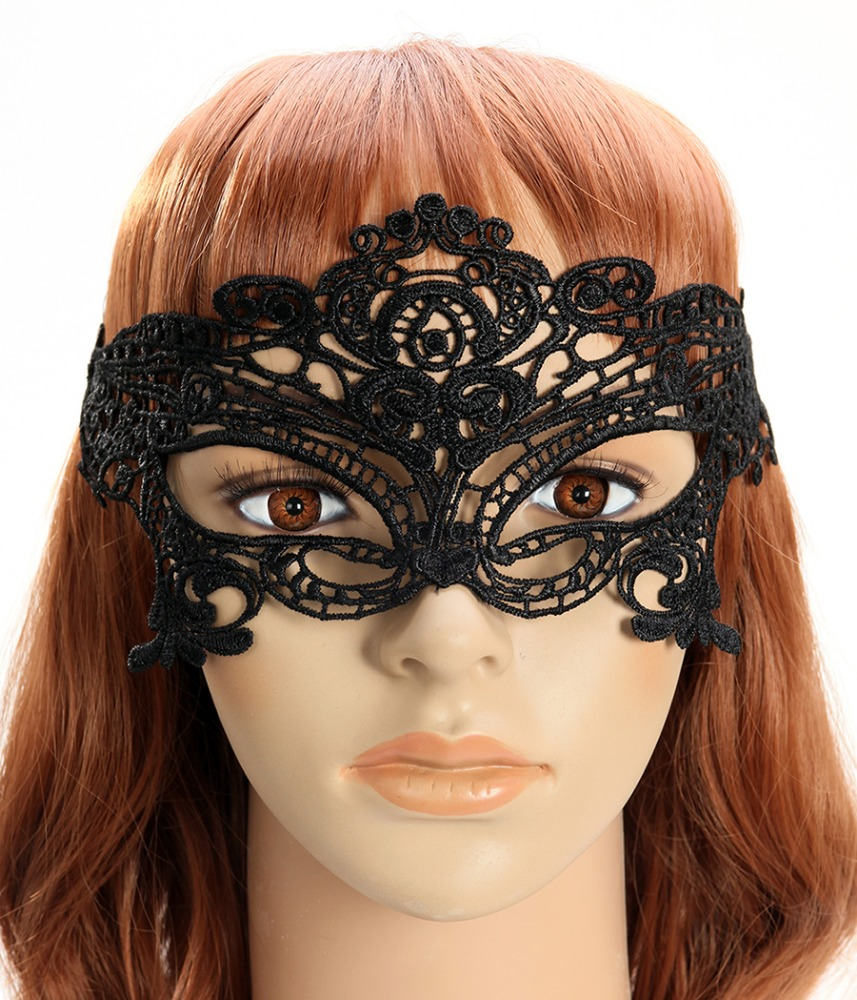 Women Sexy Half Face Eye Mask BlackMask Female Costumes Masks For Masquerade