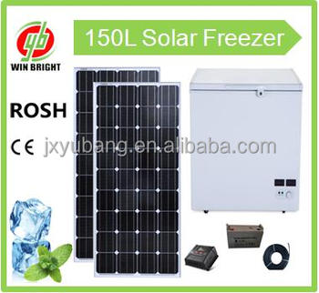 Chest deep freezer factory price capacity 150L Whosale Solar powered DC12V/AC220V Deep Freezer refrigerator fridge for home