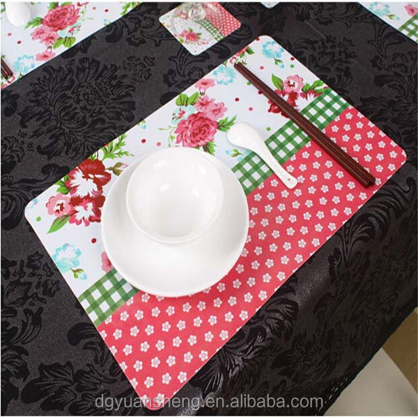 recycled polypropylene plastic place mats wholesale in different size