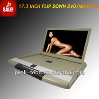 car monitor,flip down car monitor,17 inch HDMI roof dvd for bus with HDMI input IR FM SD USB AV