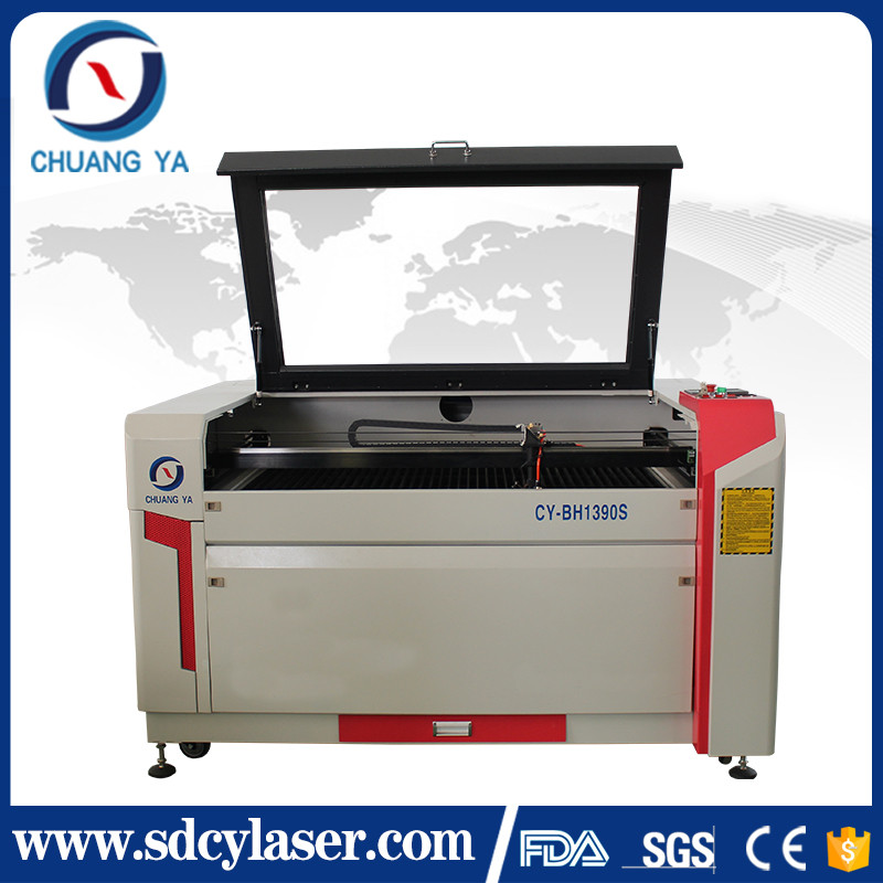 Jinan CHUANGYA portable popular co2 laser cut wood shapes machine with famous RECI tube laser cutting machine