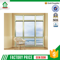 Aluminum frame double glass fixed windows price
