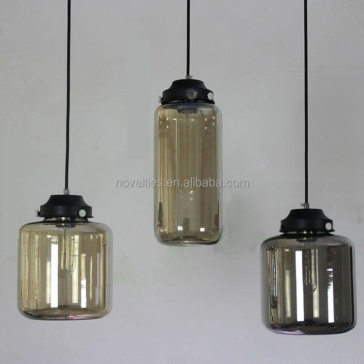 European Retro Glass Jar Ceiling Lamp European Vintage Chandelier ...