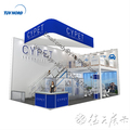 Detian Offer modular double deck exhibition booth two level exhibition stand