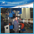 Vertical plastic extruder machine of 800mm double wall PE corrugated drainage pipe