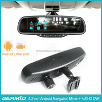 "5"" Android GPS 1080P Wifi Car Rearview Mirror Monitor DVR"