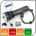 1200 lumen rechargeable led flashlight torch powered by 18650 battery XML L2 led strong light flashlight