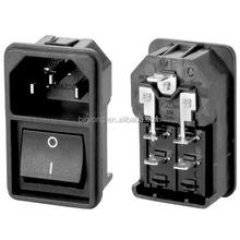 AC Power adapter socket with rocker switch