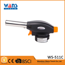 Outdoor multifunction flamethrower electric ignition welding gas torch WS-511C butane lighter