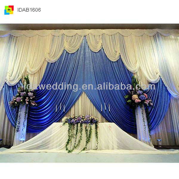Grand curtain for party backdrop, wedding decor and stage effect