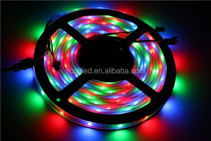 12V Flexible SMD 5050 Addressable Magic Digital WS2811 RGB LED Strip WS2811 Waterproof
