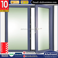 Excellent price tempered glass vinyi window/large plastic hinged window for house