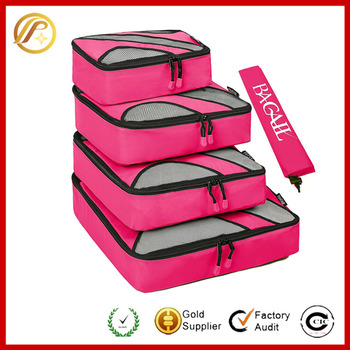 2016 Hot products 4 Set Packing Cubes,Travel Luggage Packing Organizers with Laundry Bag