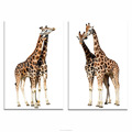 Cute Giraffe framed wall Pictures for Nursery Room Canvas Wall Art Ready to Hang