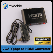 New HDMI to VGA / YPbPr Video Audio Converter hdmi to av Converter Box