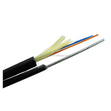 Guangzhou Factory Ftth Fiber Drop Cable Self Supporting Fiber Optical Indoor Cable With Messenger Wire
