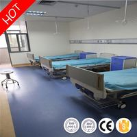 Barefoot friendly noiseless oil resistant pvc floor for indoor