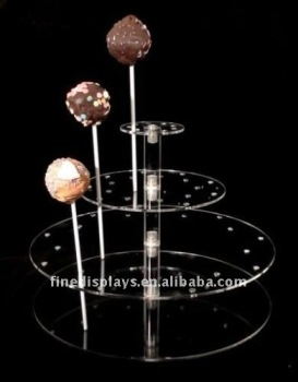 Clear Acrylic Cake POP Ball Lollipop Display Stand (FD-A-0192)