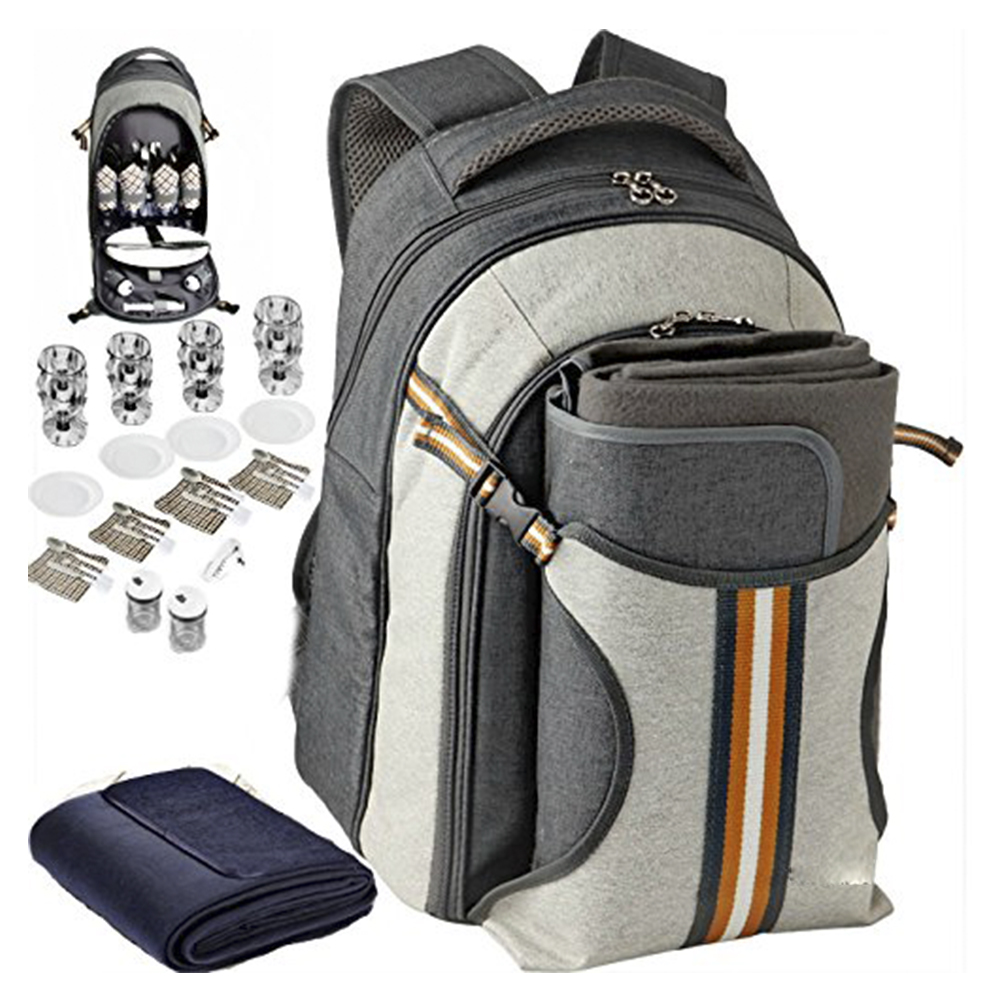 Nylon Material and 4 Persons Type 4 person picnic backpack