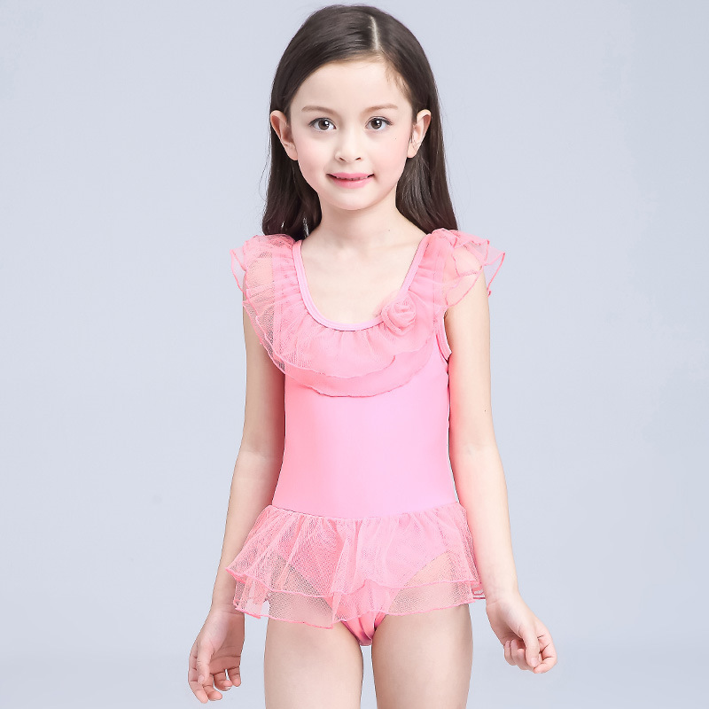 HT-LGS Stylish Top Design Swimsuit 2017 Kid One Piece Baby Girls Swimwear Kids Girl