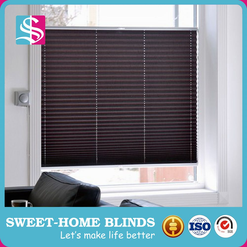 New beautiful plisse blind latest curtain fashion design pvc coated fabric pleated shutter