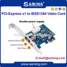 2 port PCI-E firewire IEEE1394 video card/ riser card/expansion card