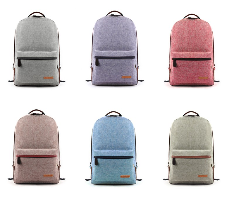 New Feature of Canvas school Backpack Laptop Schoolbag for teenager