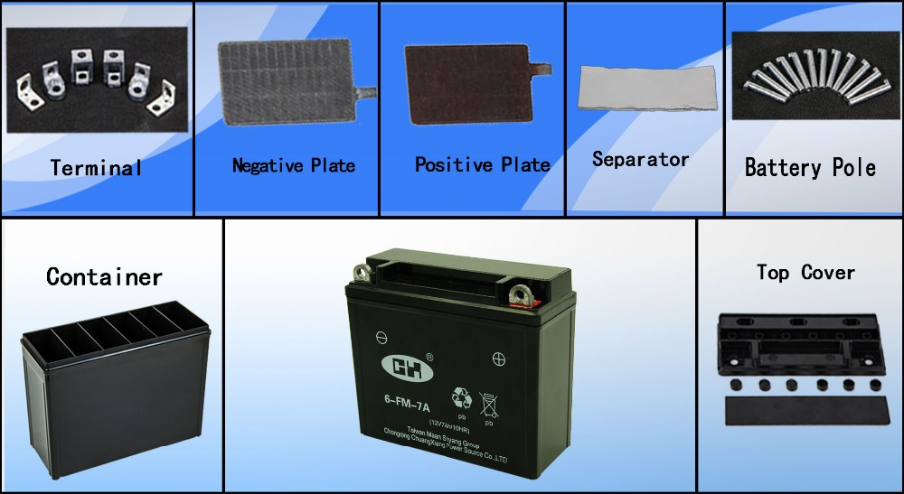 Maintenance-free Sealed Regulated Battery for Electric Start Generator, Gasoline Engine Battery