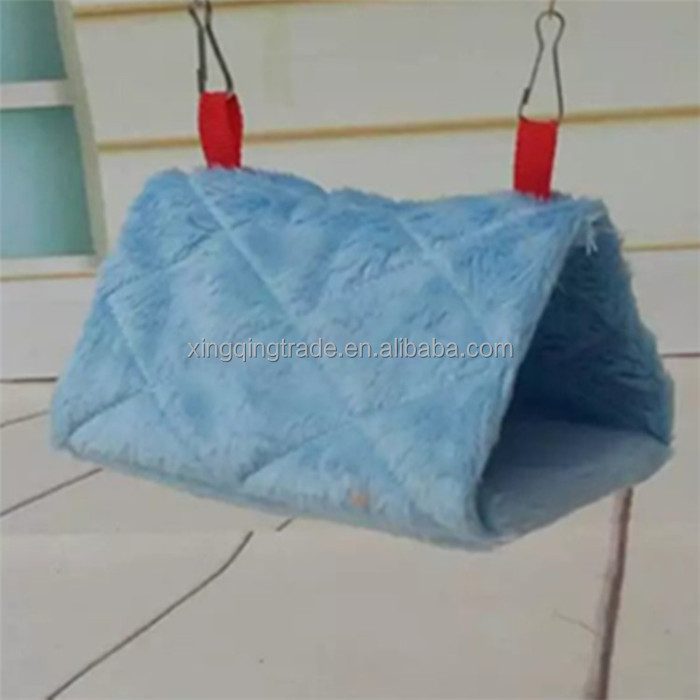 Warm Canary Hut Nest Parrot Bird Hamster Bed Triangular Hammock Cage Plush Tent Bed Bunk Parrot