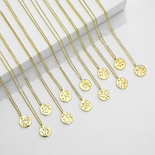 Twelve constellations designs astrology charm CZ Micro paved 14K gold plated copper pendant choker zodiac necklace