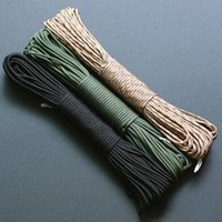 2015 New MultiColor 550 Parachute Wholesale Mil Spec Type III Lanyard Rope Parachute Cord Braiding 7 Strand
