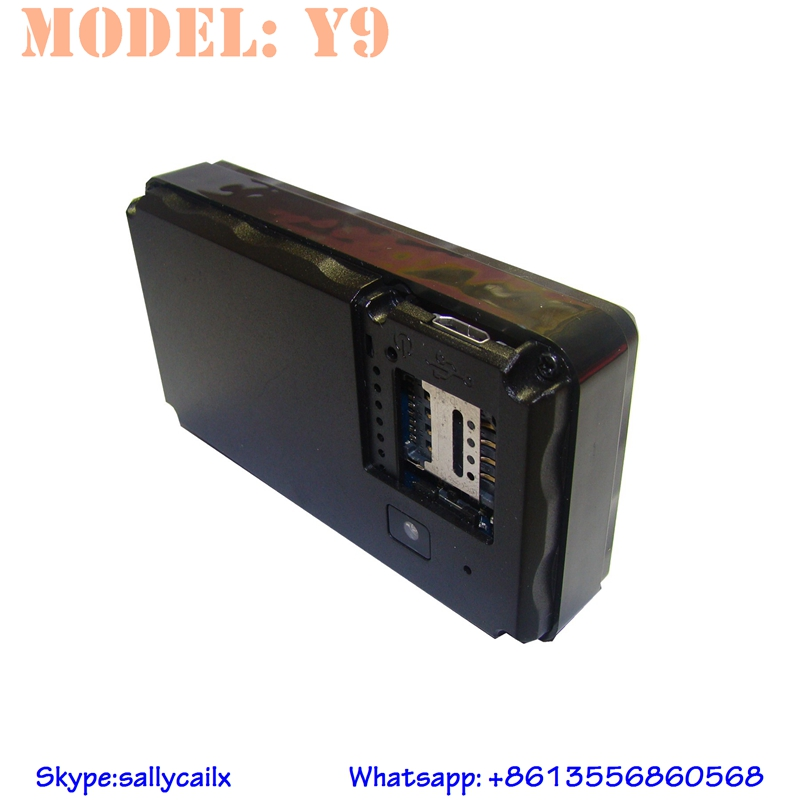 Y9 high sensitive light tamper-proof manual gps vehicle tracker one year long lasting battery