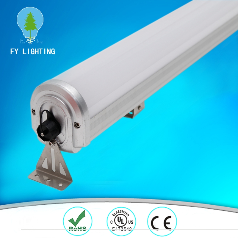 1.2m Waterproof Led linear high bay light 9-88w 110lm/w frosted cover for warehouse