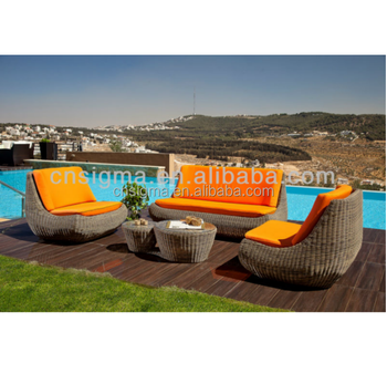 2014 Synthetic Material Rattan outdoor sofa set designs